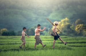 田舎の子供